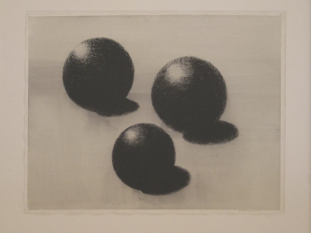 Senza titolo, 2008, tempera e carbone su carta, cm 56,5x75,5
