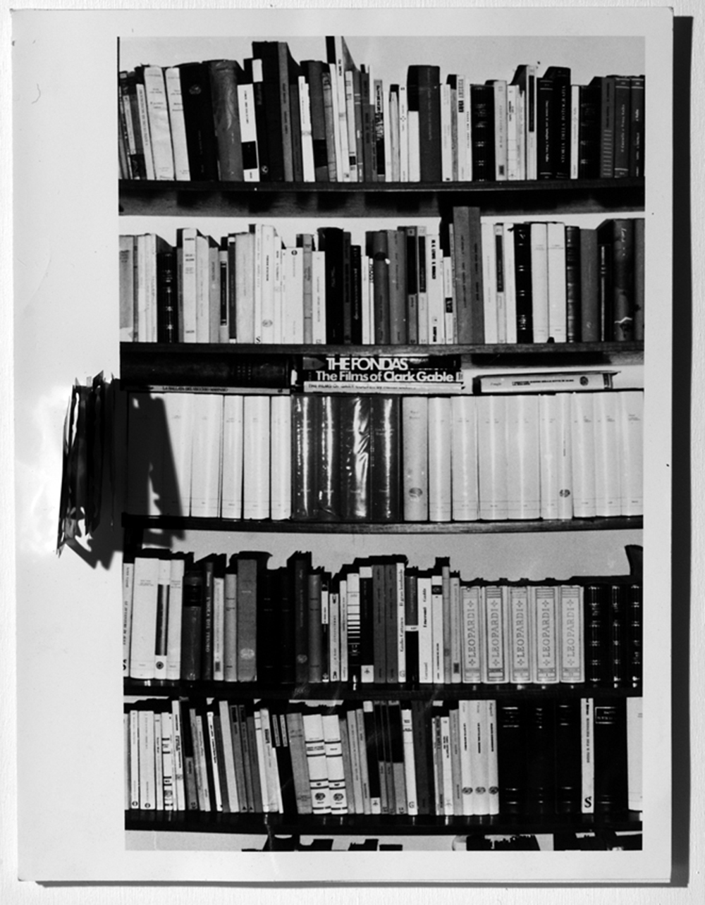 Antropologie, 1976-78, stampa ai sali d'argento e lamette, cm 18x13
