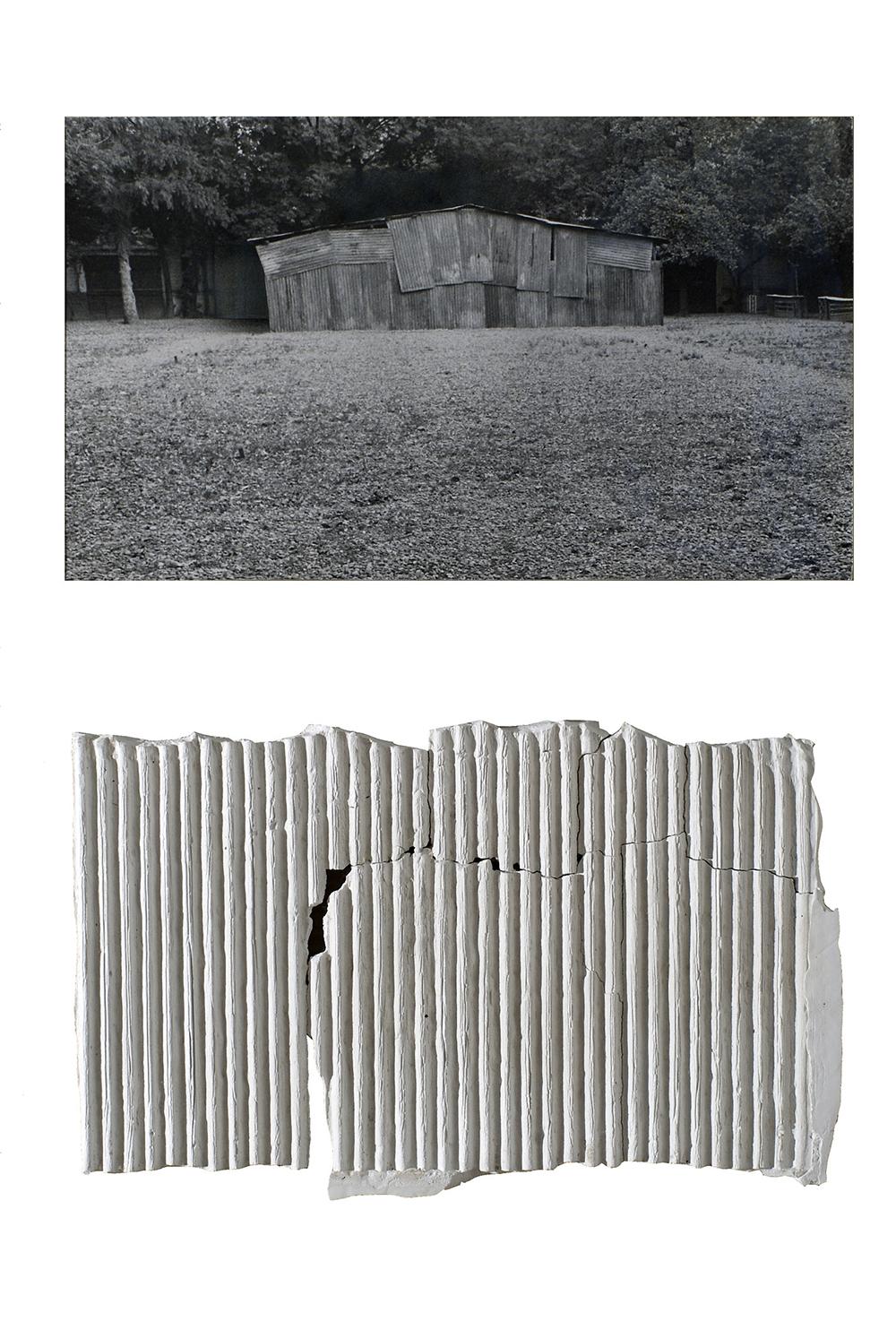 Archeologia, 1973, stampa ai sali d'argento e scagliola, cm 40x30