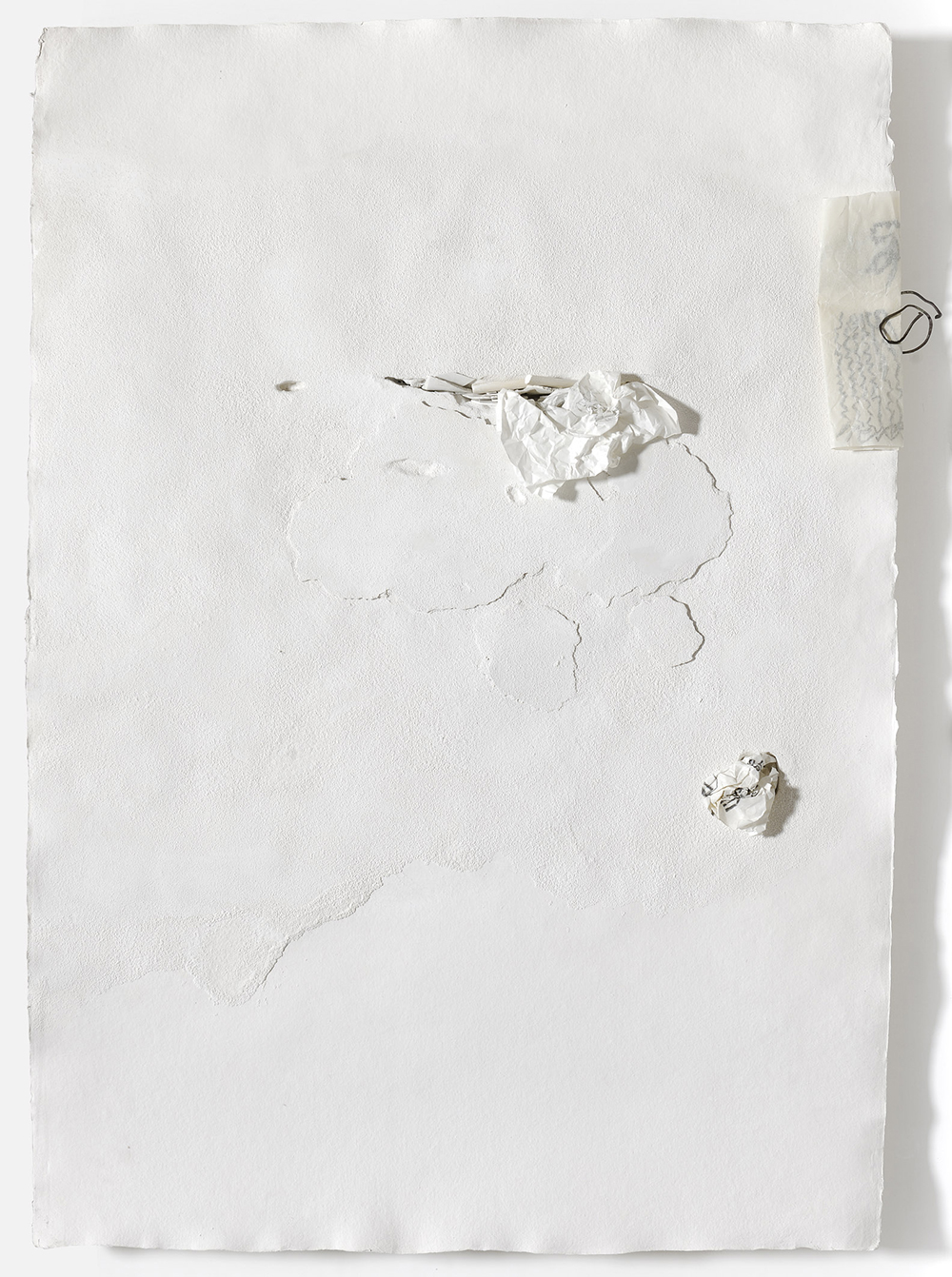 Museo ideale, 2011, tecnica mista su carta, scagliola, rame ossidato, cm 134x94