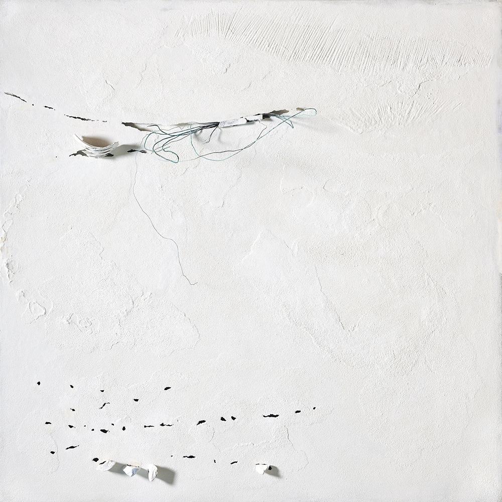 Impossibili restauri, 2011, tecnica mista su tavola e filo di rame, cm 185x185