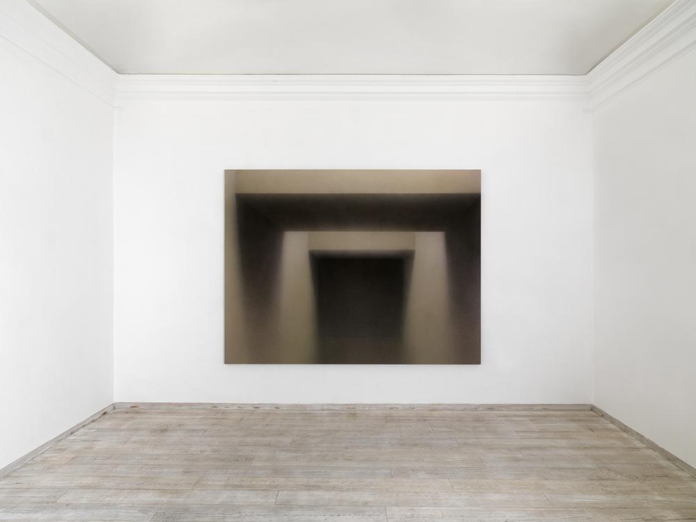 Senza titolo, 2009, tecnica mista su tela, cm 250x330