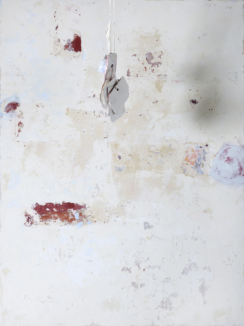 Strappo d'affresco, 2012, tecnica mista su tavola e cocci, cm 200x150