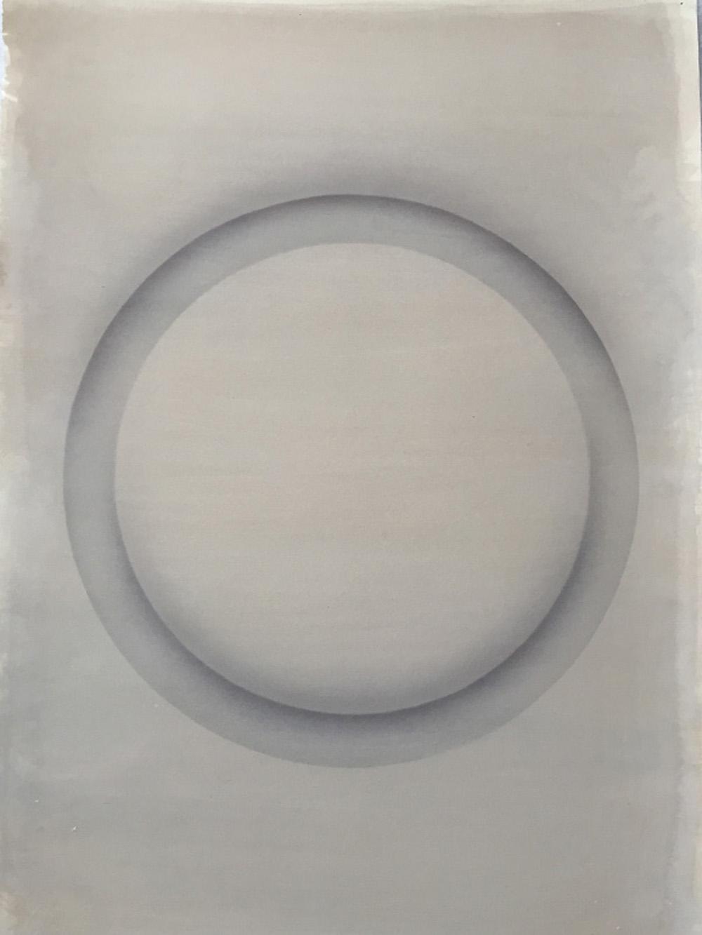 Senza titolo, 2016, tempera e inchiostro su carta montata su tela, cm 70,5x49,5