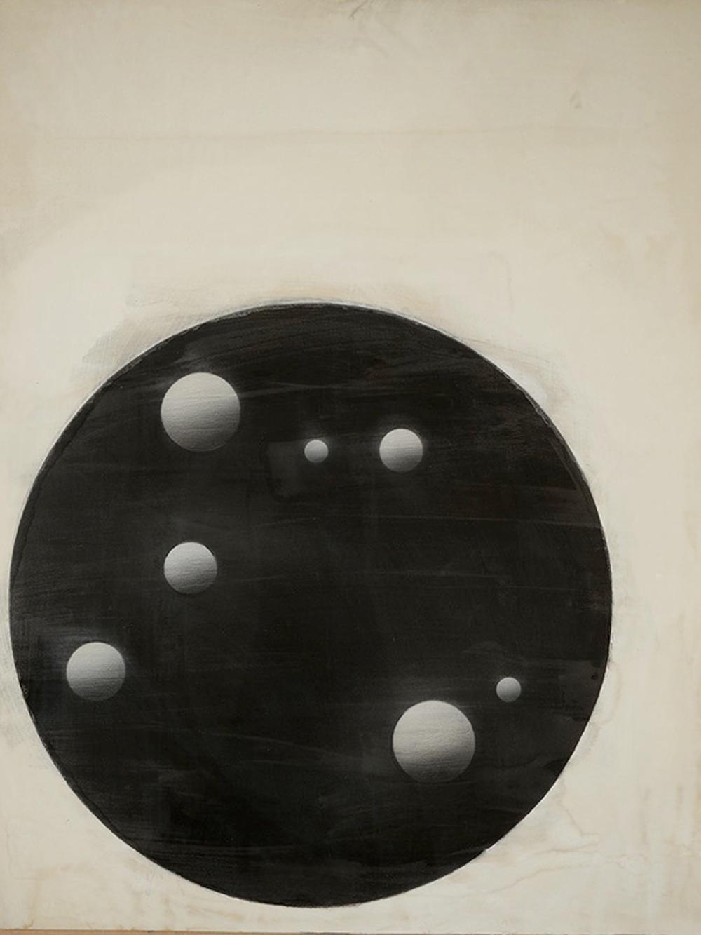 Senza titolo, 2014, gesso e tempera su tavola, cm 104,5x84