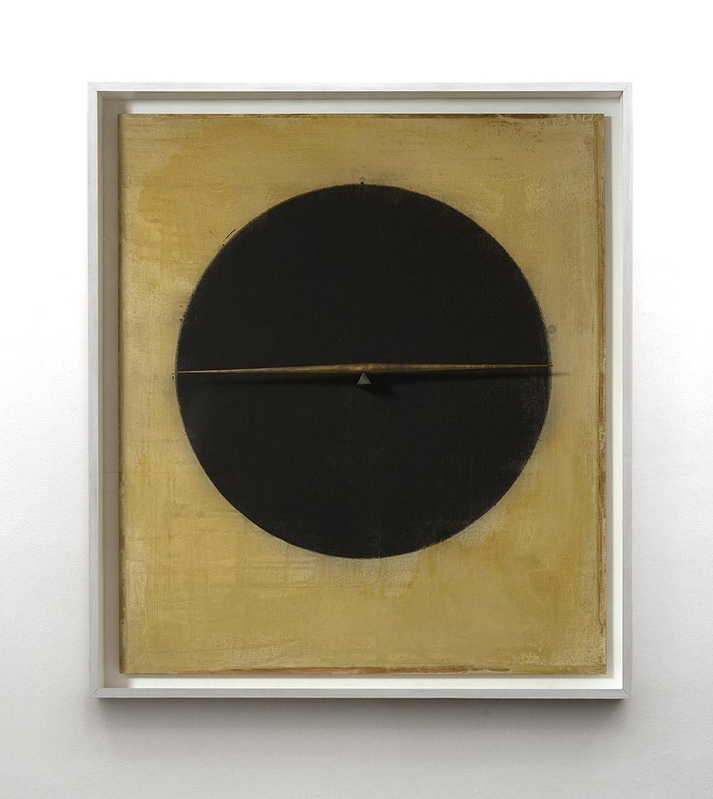 Senza titolo, 2014, gesso, tempera e bronzo su tavola, cm 164x144