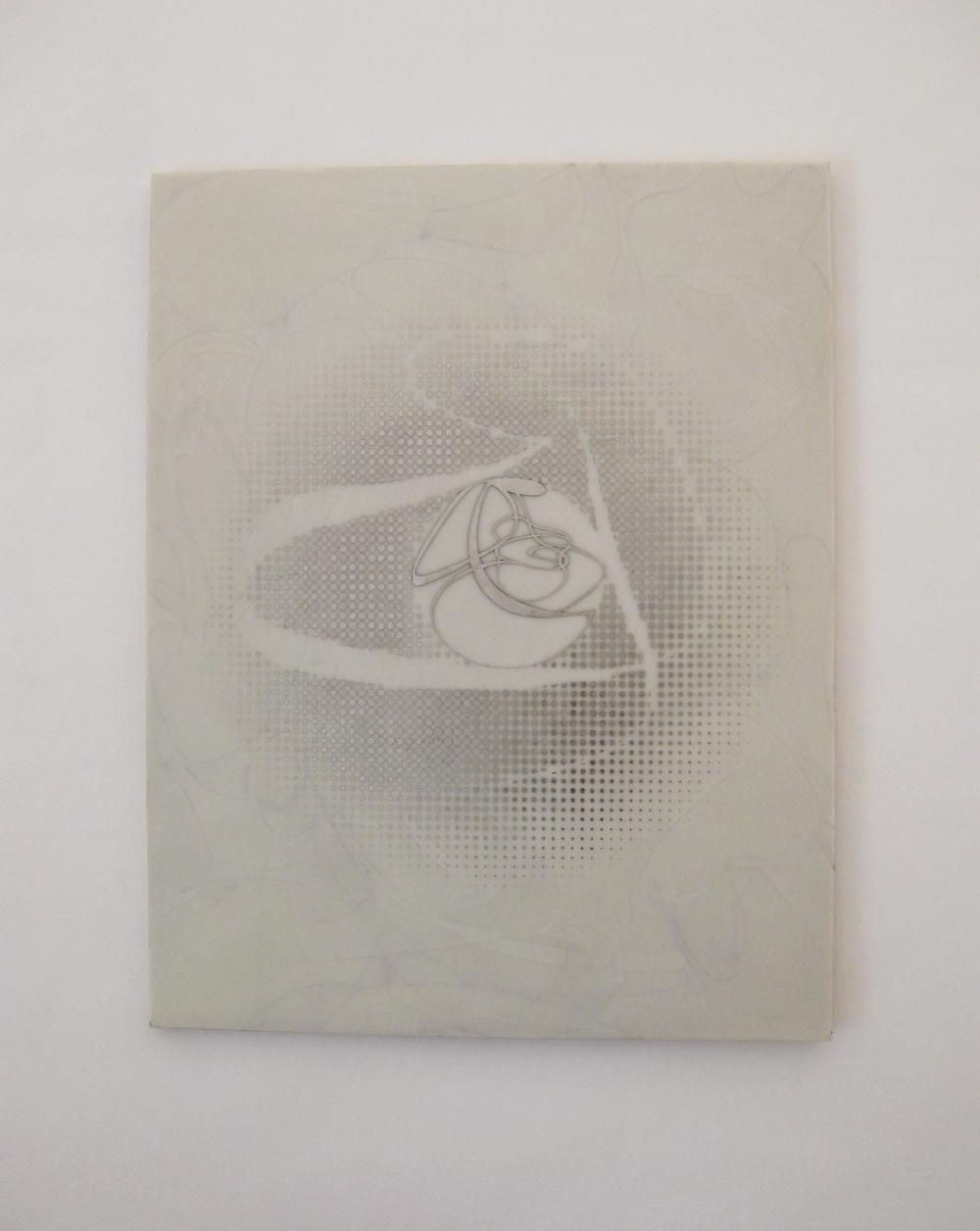 Domenico Bianchi, Senza titolo, 2015, cera e palladio su fibra di vetro, cm 140x110