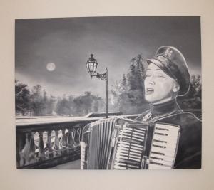 Gian Marco Montesano, Chant à la lune, 2011, olio su tela, cm 90x110