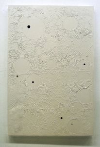 Luigi Carboni, Bianco ombrato, 2016, smalto su tela, cm 120x80