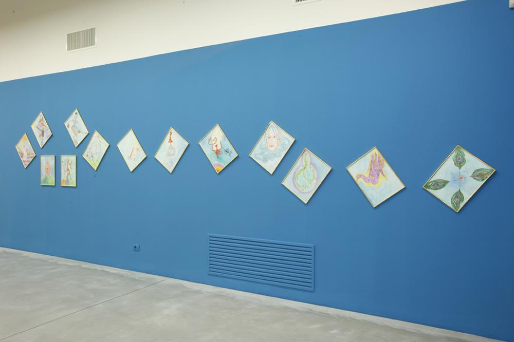 Luigi Ontani, Nell'abbraccio dell'Io, 1998, 13 acquerelli su carta, cm 36x48 ciasc. - opera indivisibile