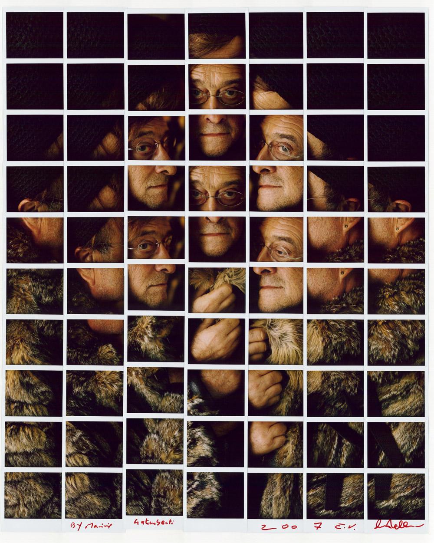 Maurizio Galimberti, Lucio Dalla- ritratto, 2007, mosaico polaroid, cm 82x67
