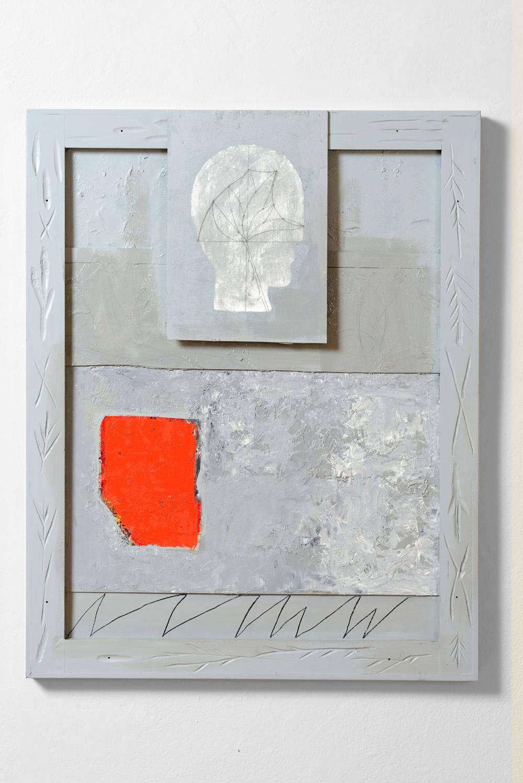 Mimmo Paladino, Meridiano, 2011, olio su tavola, cm 95,5x76