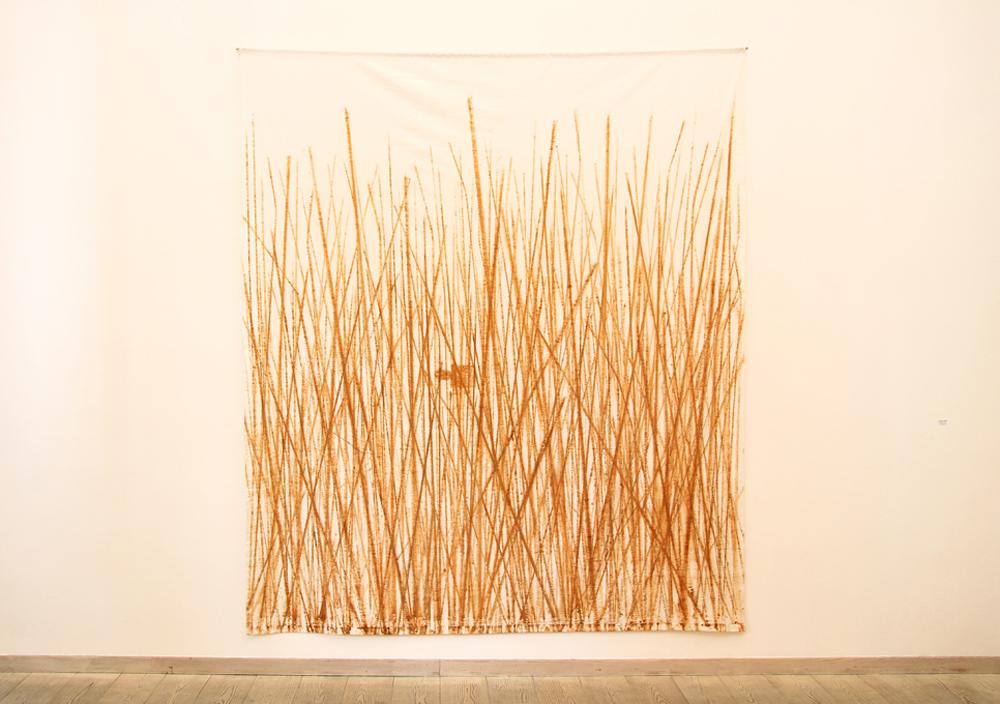 Vincenzo Gentile, Landscape, 2016, ruggine su tela, cm 254x218