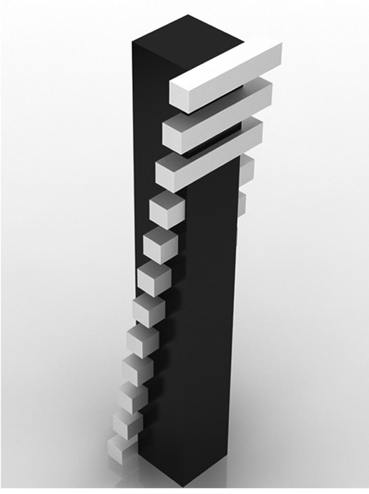 Scultura 502, 2006, legno laccato, cm 230x50x50