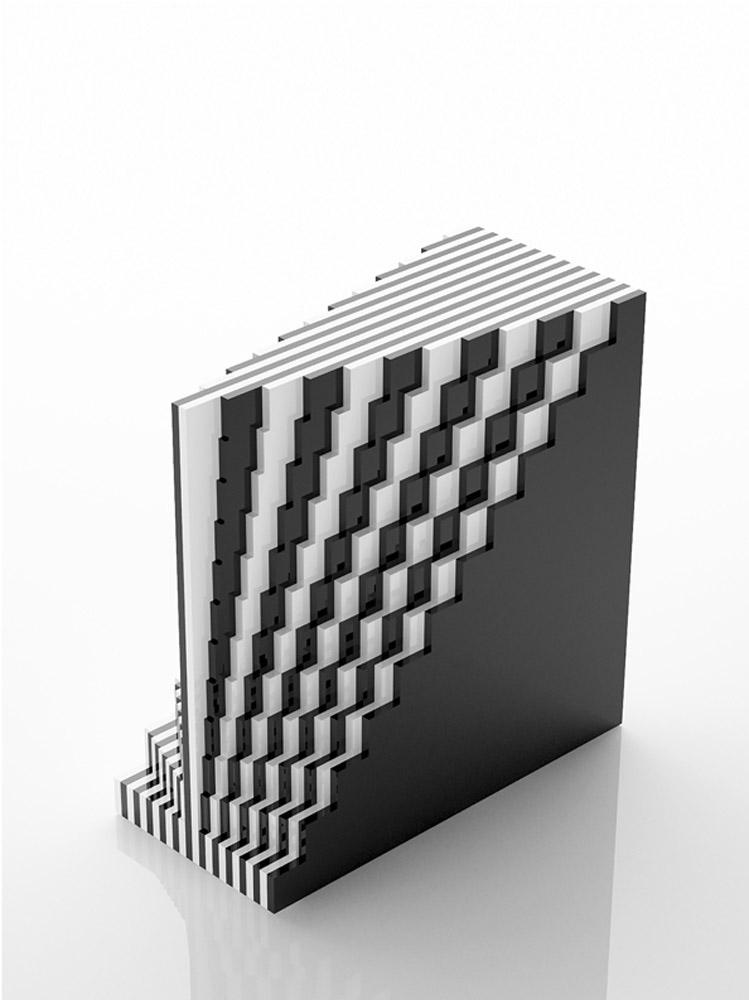 Scultura 567, 2010, plexiglas, cm 30x30x14,4