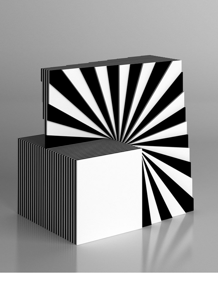 Scultura 572, 2011, plexiglas, cm 30x30x15