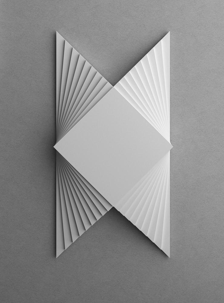 Struttura 619, 2014, legno laccato nero, cm 35x70x5,6
