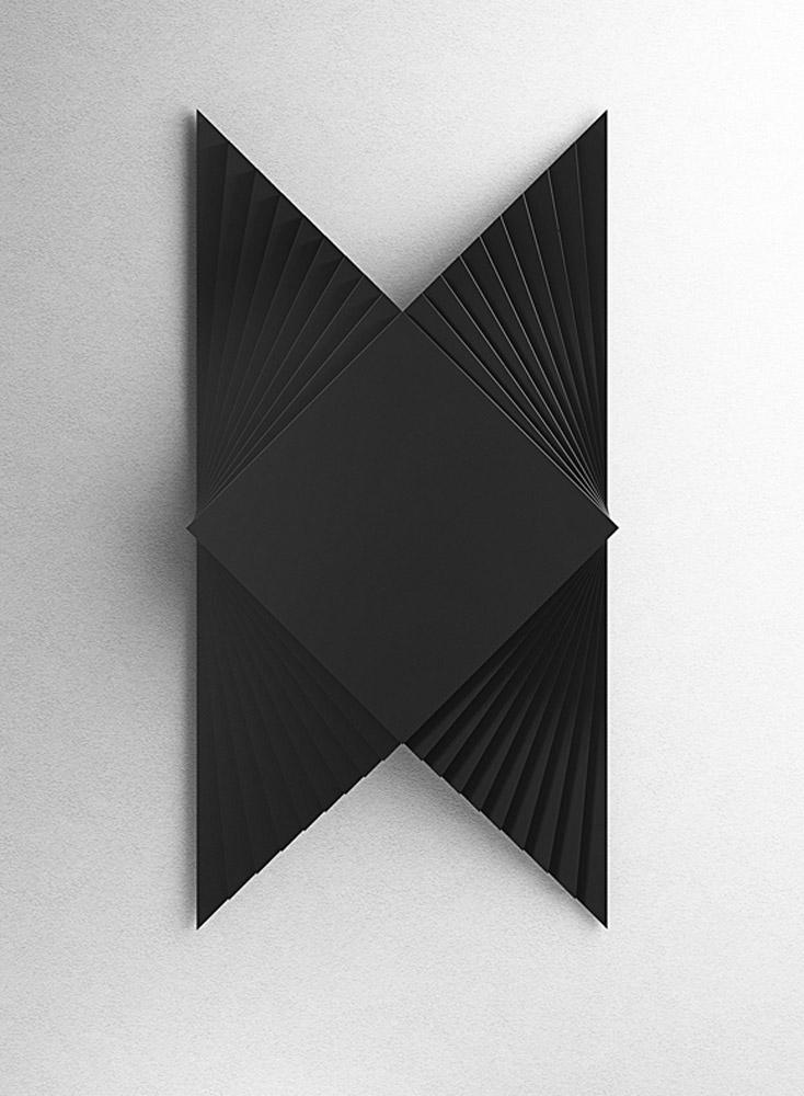 Struttura 619A, 2014, legno laccato nero, cm 35x70x5,6