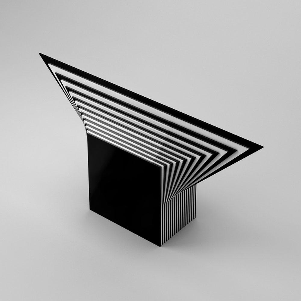 Scultura 642, 2016, plexiglas, cm 90x45x18,5