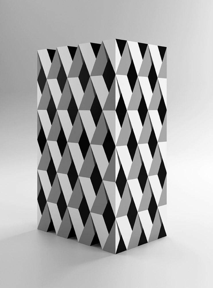 Mobile Valentina, 2015, legno laccato, cm 60x40x100