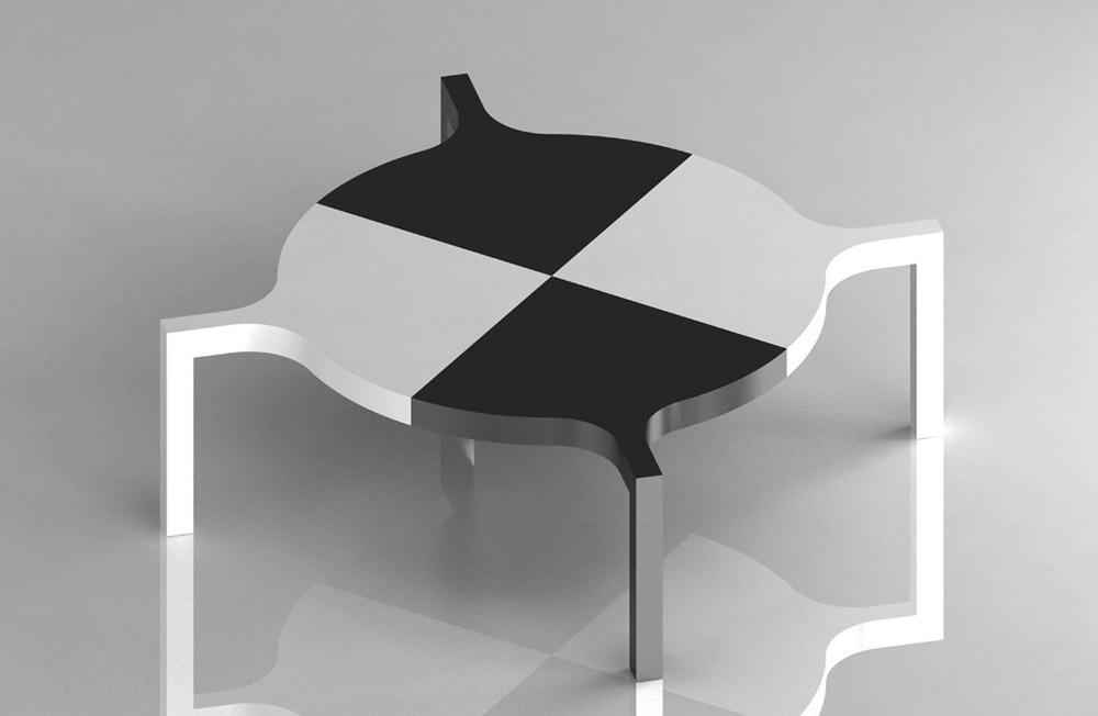 Tavolo Maria, 2014, laminato, cm 220x74