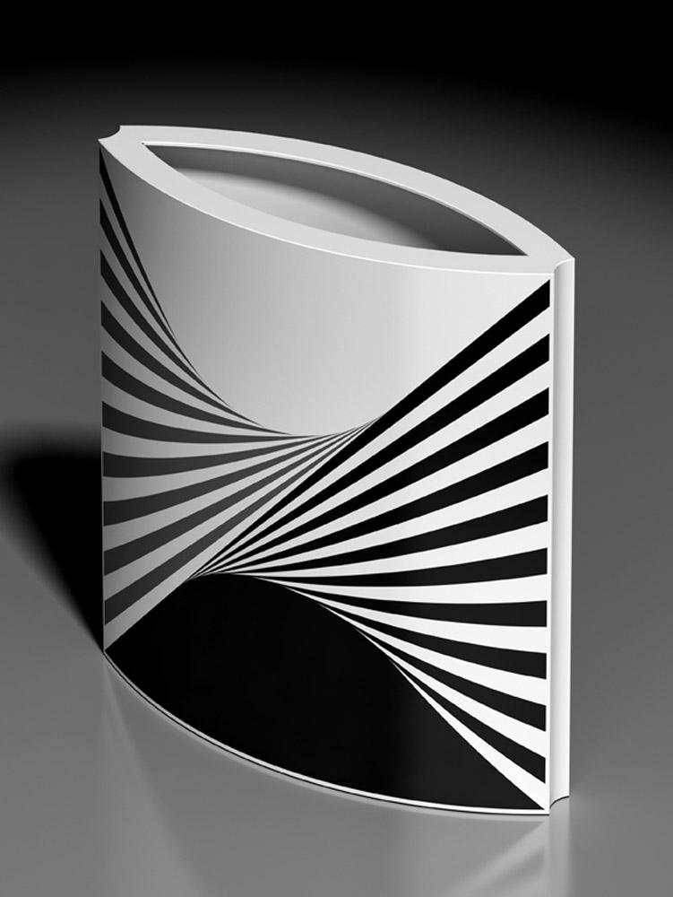 Vaso 516C, 2013, porcellana Rosenthal, h cm 31