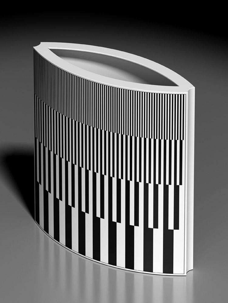 Vaso 570B, 2013, porcellana Rosenthal, h cm 31