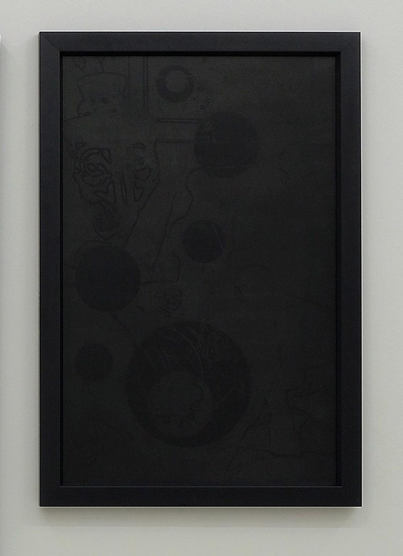 Nero ombrato, 2015, olio su lavagna, cm 98x68