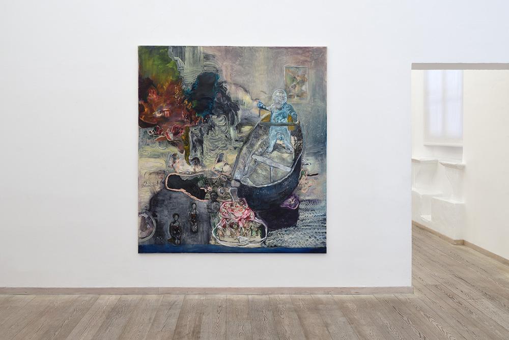Paola Angelini, La storia che mi ha raccontato mio padre, 2016, olio su tela, cm 200x180