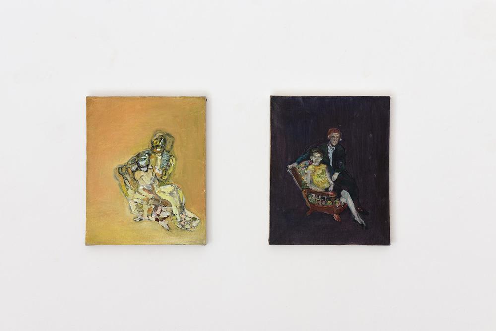 Paola Angelini, Una persona importante e Una persona importante II, 2016, olio su lino, cm 50x40