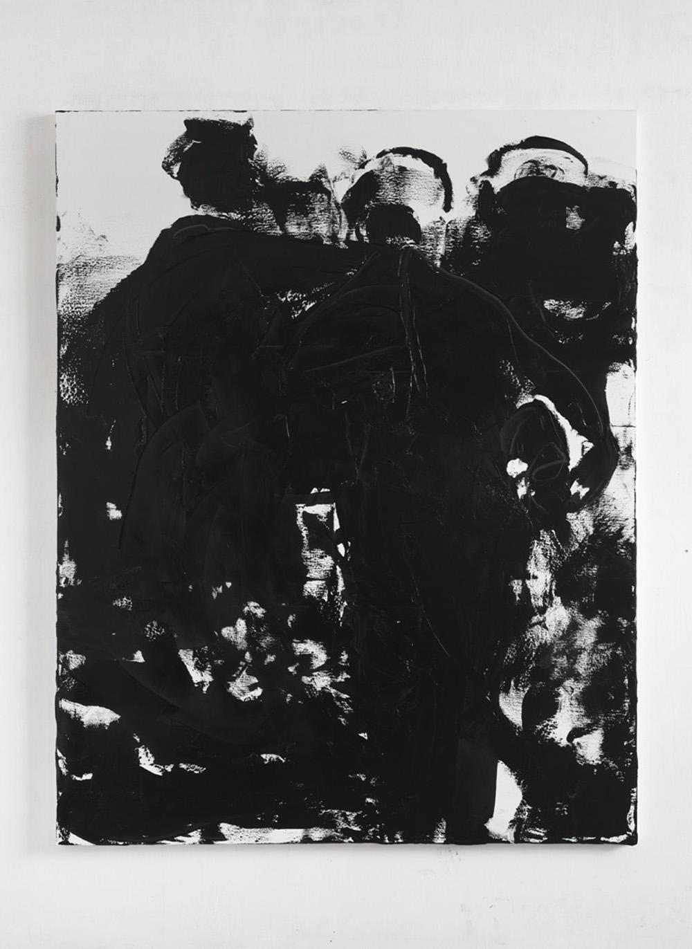 Conversation piece XII, 2017, olio su tela, cm 230x180