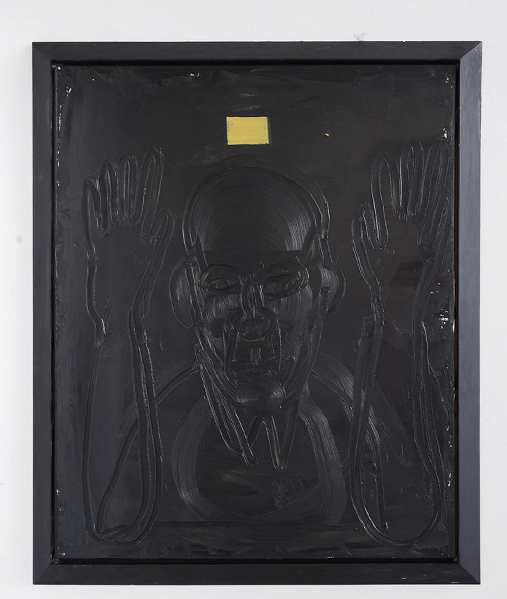 Senza titolo (autoritratto), 2011, olio su tela, cm 110x90