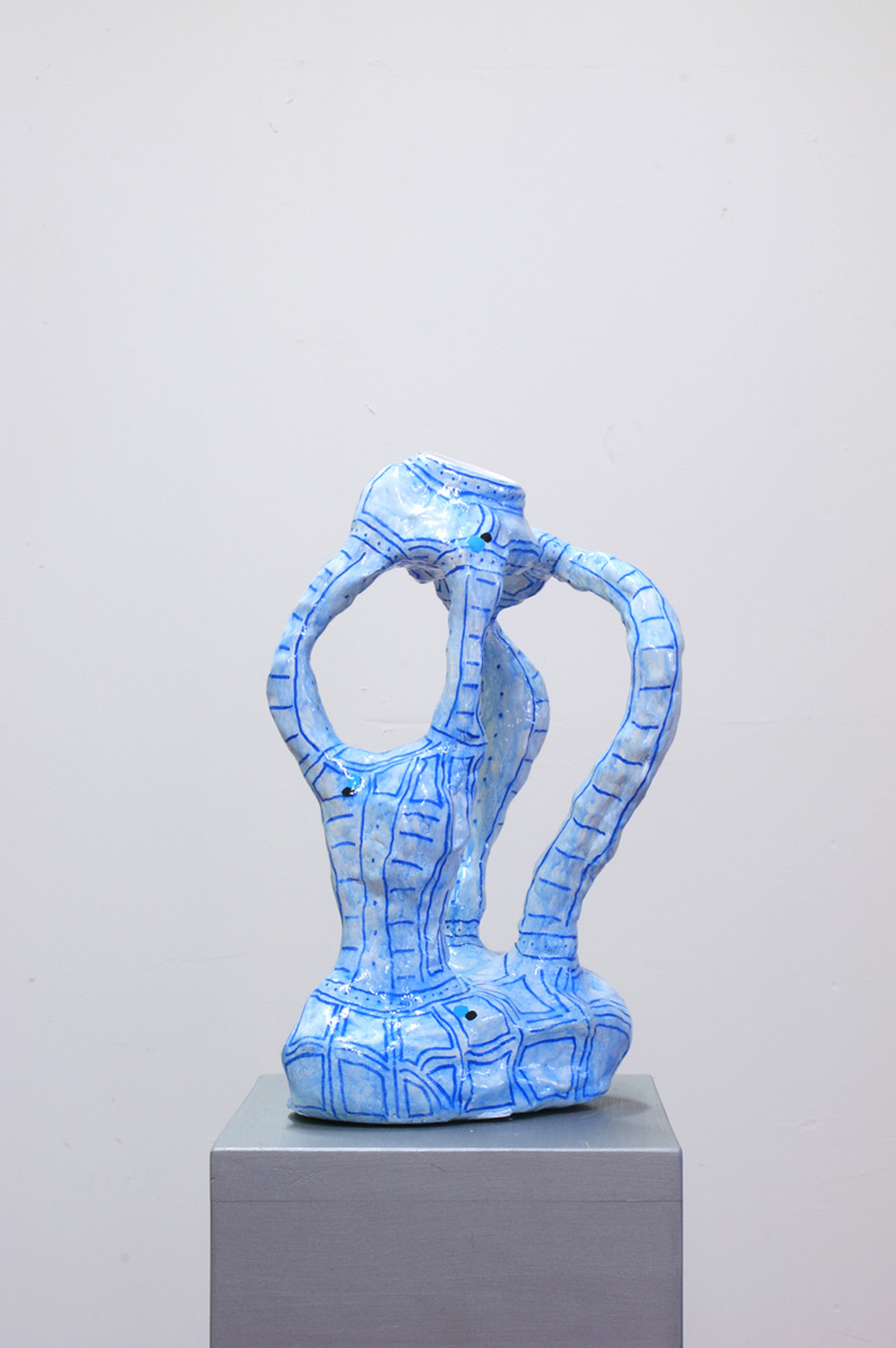 Davide Mancini Zanchi, Tazzina da caffè (#beakseverywhere), 2018, tazzina da caffè incastonata su scultura in finta ceramica, cm 35x20x14