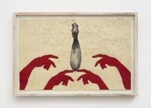 Giuseppe Gallo, Senza titolo, 1992-1993, tecnica mista su carta, cm 47x75