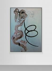 Selbstportrait aus der Serie der grossen Gefühle (Madonna degli ubriachi), 1983, acrilico su tela, cm 155x110
