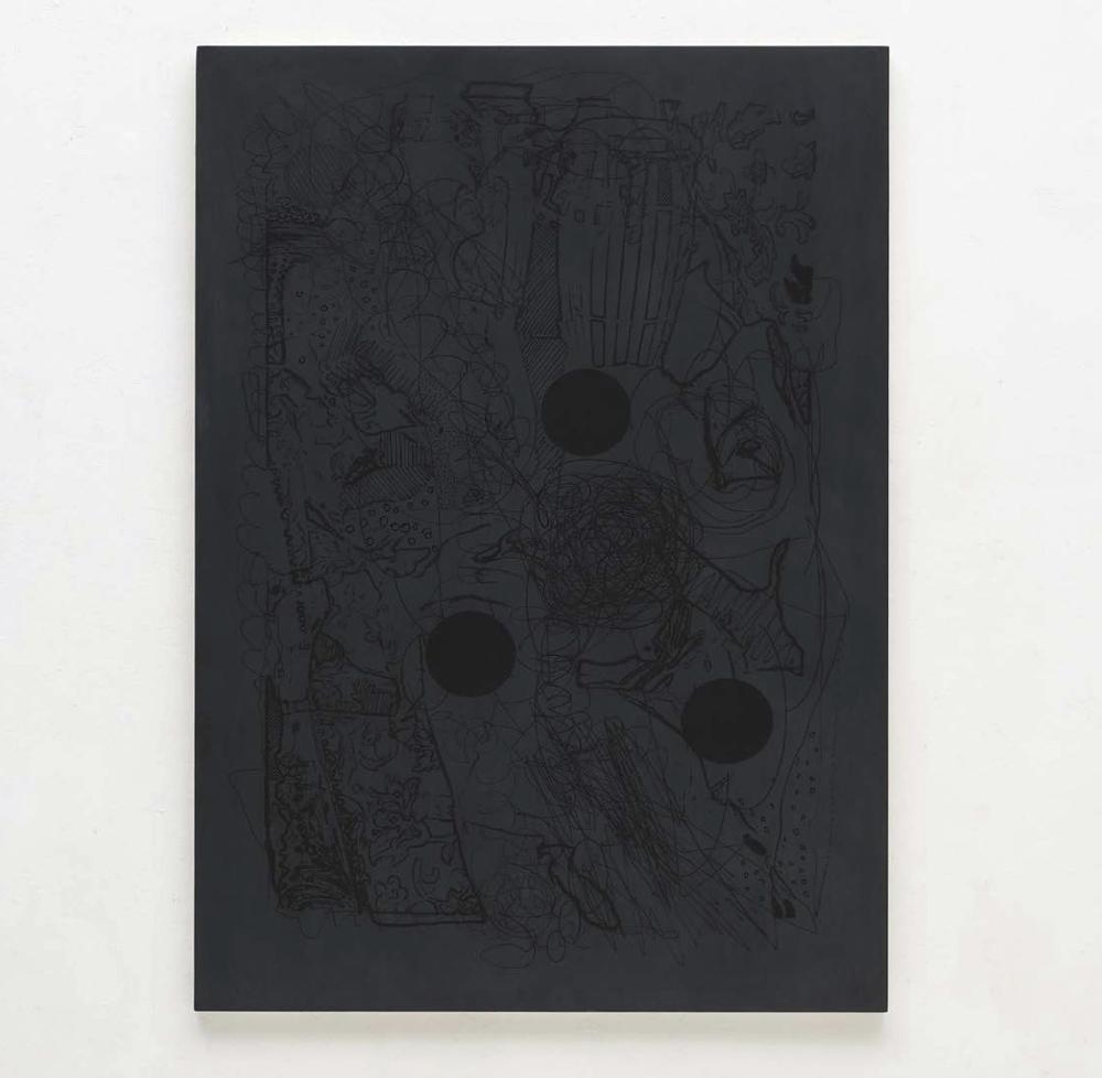 Luigi Carboni, Ridisegnare, 2019, acrilico e olio su tavola, cm 160x114