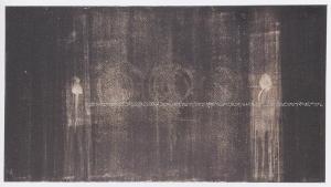 Luca Caccioni, Tavola detta, 2001, abrasione con le dita su dispersione su pvc, cm 90x165