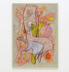 Luigi Carboni, Ridisegnare, 2019/20, acrilico e olio su tavola, cm 160x114
