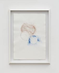 Out of the Thin Air II, 2021, tempera mista e polvere di bronzo su carta, cm 70x50