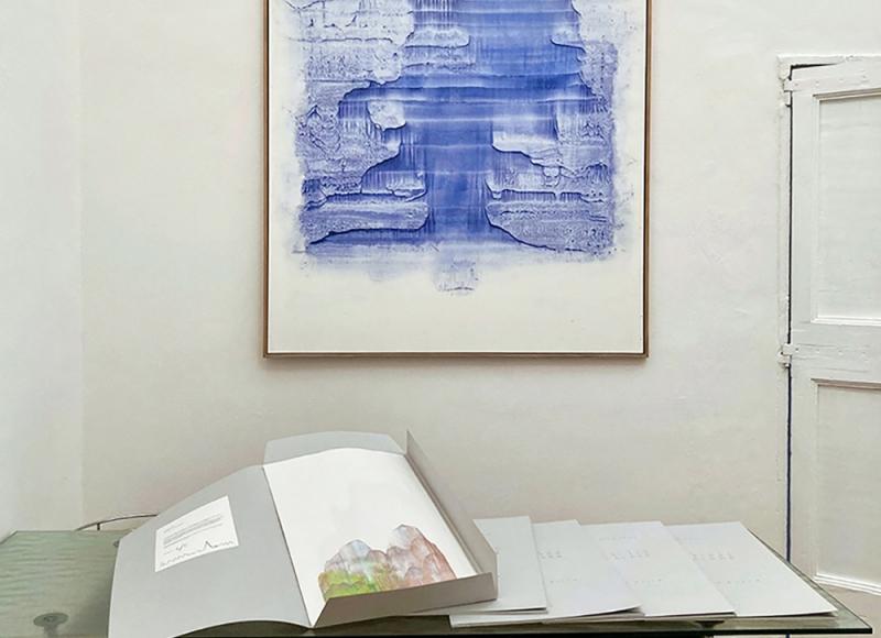 Respiro, 2021, acquerello su carta montata su tela, cm 200x140