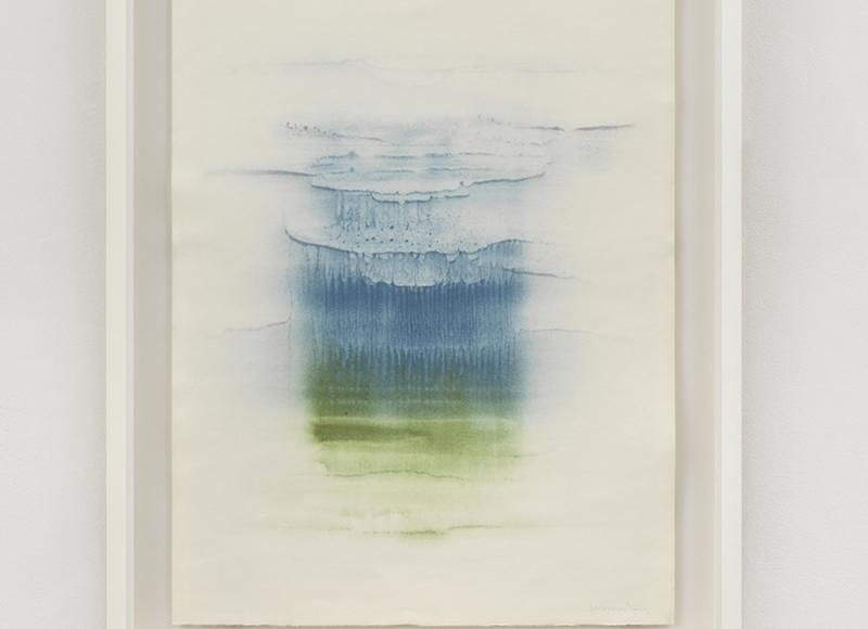 Miraggio, 2021, tempera mista su carta, cm 70x50