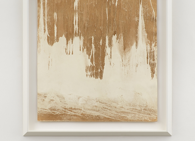 Closer, 2021, polvere di bronzo emulsionata su carta, cm 64x61