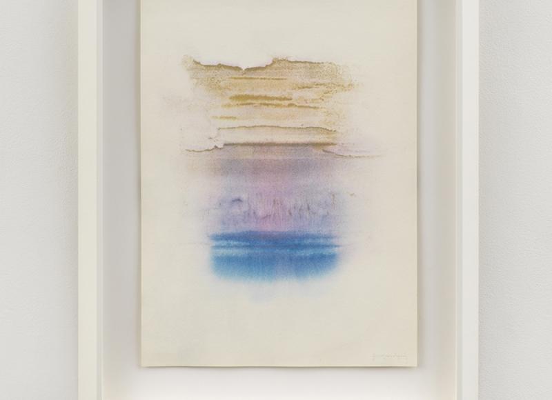 Piccolo miraggio, 2021, tempera mista su carta, cm 50x35
