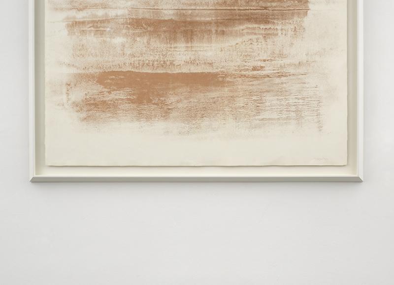 Ancora nel sogno, close up, 2021, polvere di bronzo emulsionata su carta, cm 90x134